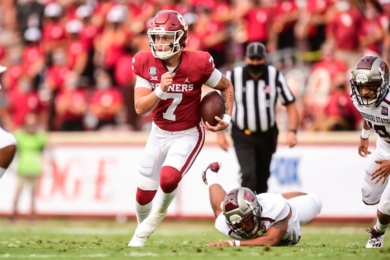 Ty Russell Spencer Rattler Oklahoma MissouriState 091220 2