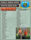 Consult the list above to learn which public hunting areas are open for Youth Deer Gun Season across the state. (facebook.com/wildlifedepartment)