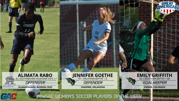 #theGAC WOMEN'S SOCCER WEEK FOUR PLAYERS OF THE WEEK