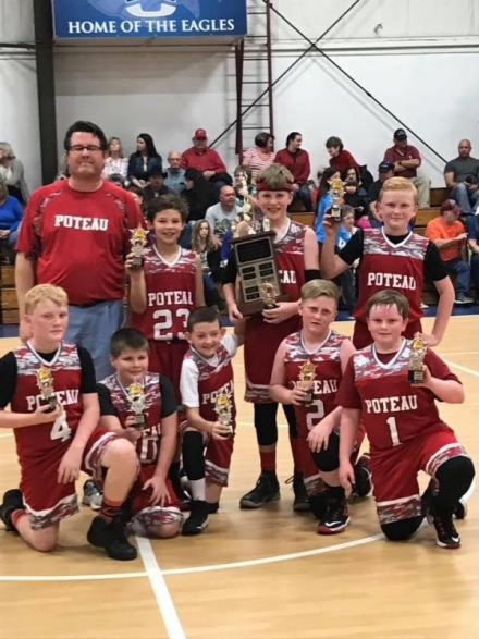 Lyle Whitworth, coach top left: Luke Sandlin, Connor Whitworth, Burke Perry Bottom Row: Brady Perry. Lawson Akers, Ethan McBee, Colby Tucker and Nate Jordan