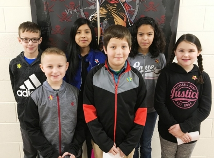PUES Students of the week for Jan 7 through 11