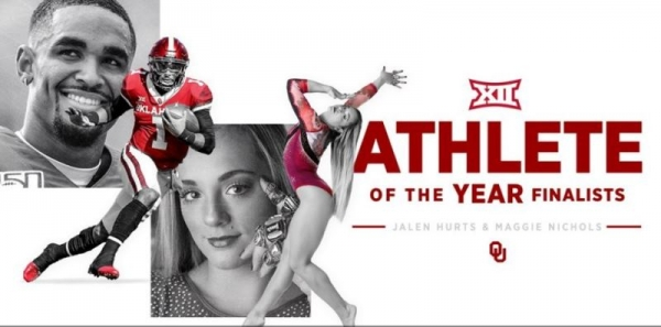 Nichols, Hurts Up For Big 12 Athlete of the Year Awards