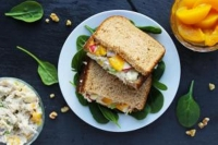 Chicken Salad and Peach Sandwich