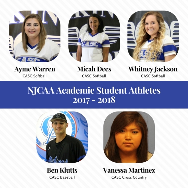 CASC Athletes Honored for Academic Success by National Junior College Athletic Association