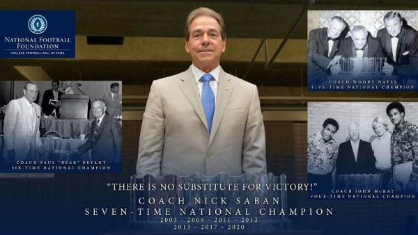 Saban's Teams Immortalized on Historic MacArthur Bowl for a Record Seventh Time