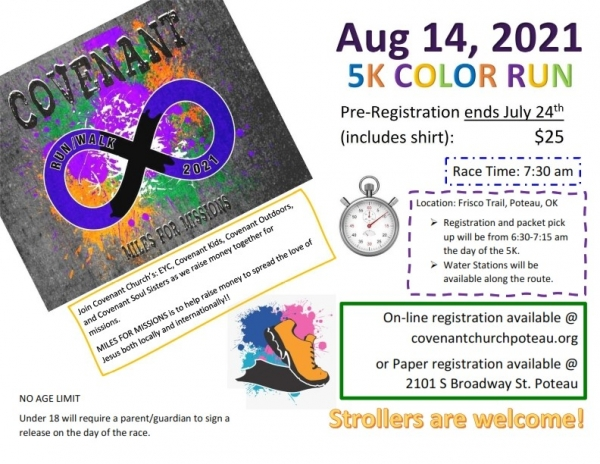 Miles for Missions 5K Color Run/Walk