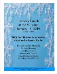 Tuesday Lunch at the Museum Jan 15th