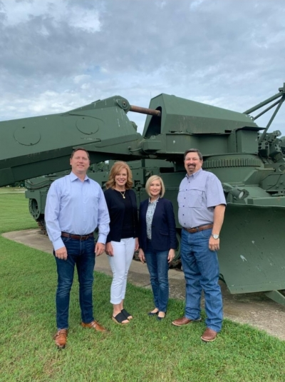 Reps. Brian Hill, Rhonda Baker, Tammy West and Dick Lowe at Fort Leonard Wood.