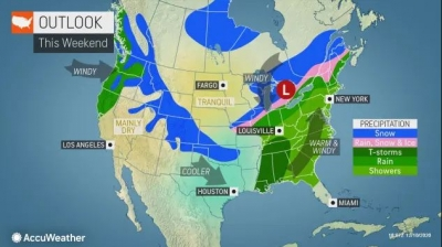 Cross-country storm to deliver another wintry blow to central US