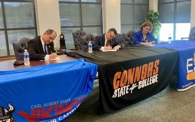 Carl Albert, Connors State and Eastern announce academic partnership to provide additional opportunities to students