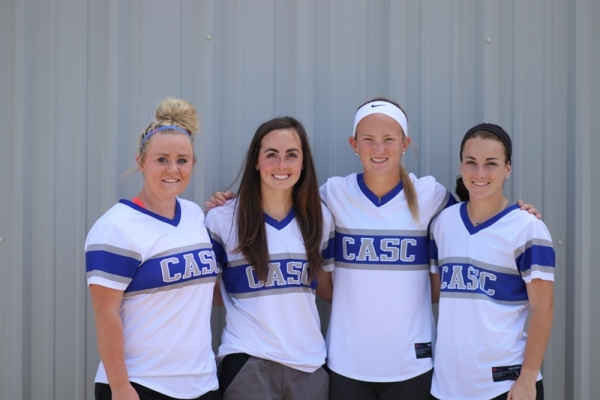 Pictured from left to right: Katie McCullar, Nikki Harrison, Lindsey Eveld, and Kyla Brown.