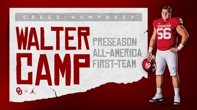 Creed Humphrey Named Preseason Walter Camp All-American