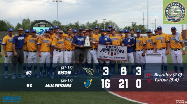 SAU WINS ITS FIFTH GAC BASEBALL CHAMPIONSHIP TITLE