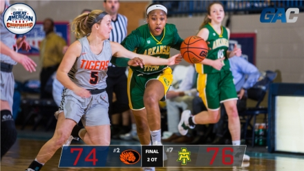 ARKANSAS TECH EDGES EAST CENTRAL IN OPENING GAC QUARTERFINAL CONTEST