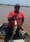 Devontay Brown caught this 5.5 lb Saugeye on Lake Carl Blackwell. Share your catch with us on Facebook, Twitter and Instagram.