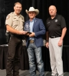State Rep. Johnny Tadlock, center, is recognized with the 2019 Legislative Award by the Oklahoma Sheriff's Association. Also pictured are then-President R.B. Hauf, sheriff of Payne County, left, and OSA Executive Director Ray McNair.
