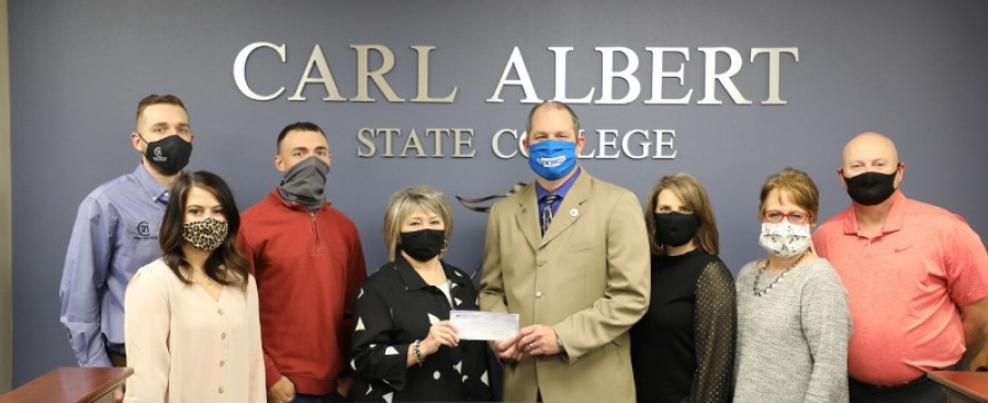 POTEAU CHAMBER MAKES DONATION TO CASC IN LATE MAYOR'S NAME