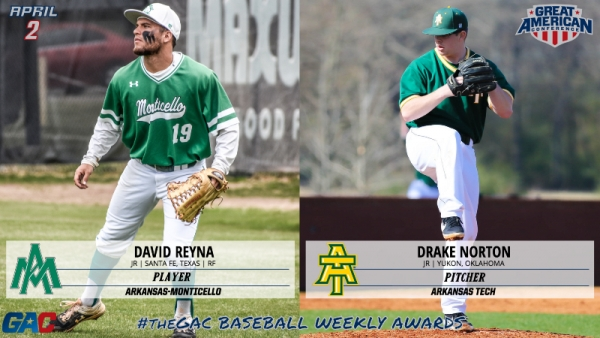 #theGAC BASEBALL PLAYERS OF THE WEEK (APRIL 2)