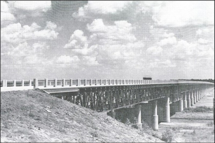 The existing bridge between Purcell and Lexington was constructed in 1938.