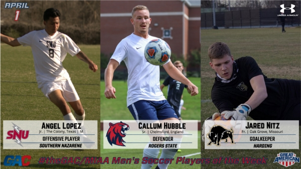theGAC/MIAA MEN'S SOCCER PLAYERS OF THE WEEK (APRIL 1)