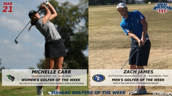 GREAT AMERICAN CONFERENCE GOLFERS OF THE WEEK (MARCH 21)