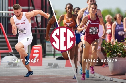 Moore, Werner Named SEC Outdoor Track & Field Scholar-Athletes of the Year