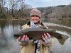 Looking for a place to check out recently caught fish in Oklahoma? Head on over to The Dock, the place to post your fishing photos with ODWC. Lindsey Leslie recently caught this rainbow trout on the Lower Mountain Fork River.