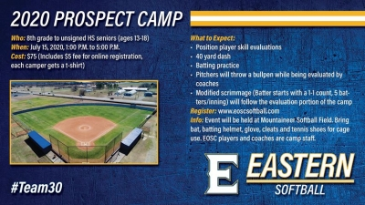 EOSC to Host Softball Camp 2020
