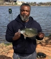 Corey Tillis caught this nice crappie at Zoo Lake in OKC on March 24
