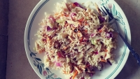 Crunchy Asian Salad with Ramen Noodles